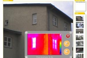 Ansichts des Thermographie-Tools (Bild: Lehrstuhl für Bauphysik der Universität Stuttgart)