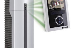 """Die Regelung Remko-""""Smart-Control"""" verfügt über ein TFT-Display mit rund 9 cm Bildschirmdiagonale"""