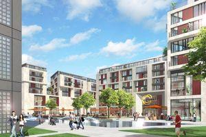 Gebaut wird das Quartier nach einem Entwurf von RKW Rhode Kellermann Wawroswky Architektur + Städtebau