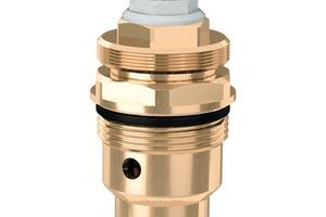 Für die Version der Serie 116 mit Vorrüstung für eine gesteuerte thermischen Desinfektion ist als Option eine Zubehörkartusche erhältlich, die in den Grundkörper eingesetzt wird,...