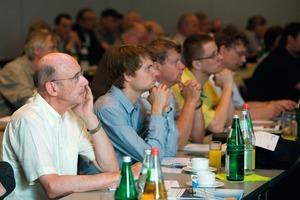 """Aufmerksame Zuhörer beim TGA Fachforum """"Intelligente Energiekonzepte"""" am 16. Juni in Berlin<br />"""