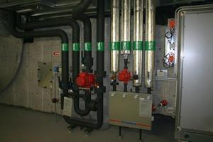 Kälte- und Wärmeübergabe an einer RLT-Geräte mit Xylem-Pumpen