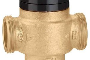 Um einen kompakten Thermomischer der Serie 5219 – zur konstanten Temperatur-Regelung des Mischwassers und mit Verbrühungsschutzfunktion – hat Caleffi sein Armaturen-Programm für Brauchwasseranlagen erweitert