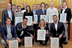 Der BTGA ehrte die besten Auszubildenden der TGA-Branche im Oxymoron in Berlin.