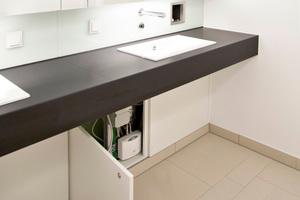 """30 Kompakt-Durchlauferhitzer in den Küchen und 125 Klein-Durchlauferhitzer """"MCX 7"""" wurden an den Handwaschbecken in den Sanitärräumen eingebaut."""