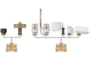 """Das Strangregulier- (links) und Regelventil (rechts) """"TA-Multi"""" kann mit einem breiten Zubehörspektrum kombiniert werden und ist dadurch flexibel und effizient für alle gängigen Anwendungsfälle einsetzbar.<br />"""