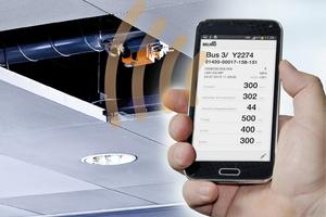 Dank NFC-Schnittstelle lassen sich die VAV-Compact-Regler von Belimo mit dem Smartphone überprüfen und anpassen.