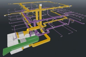 """Das CAD-Modell der Lüftungsanlage wurde mit """"liNear 3D Luftkanal"""" erstellt"""
