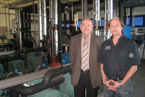 Johann Baumer von der Südbayerischen Fleischwaren GmbH (l.) und Rudolf Einöder freuen sich über den erfolgreichen Einsatz natürlicher Kältemittel.