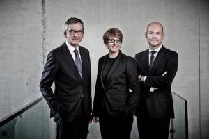 Das Geschäftsführungsteam von Dallmer (v.l.n.r): Johannes Dallmer, Yvonne Dallmer und Harry Bauermeister