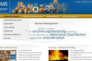 Screenshot der neuen GMS-Homepage