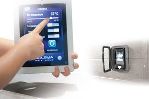 Die Digitaltechnik hält Einzug in Sanitärtechnik und Bad, wie hier mit einer Steuerung für Whirlpools.<br />