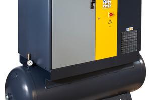 """Die Vollausstattung: """"AirMaster""""-Kompressor inklusive Kältetrockner auf Behälter"""