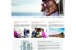 Für die Marke Allaway wurde ein eigener Internetauftritt unter www.allaway.de konzipiert.
