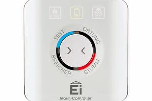 """Barrierefreies Testen und Stummschalten von Ei Electronics Warnmeldern mit dem  """"Ei450""""-Alarm-Controller"""